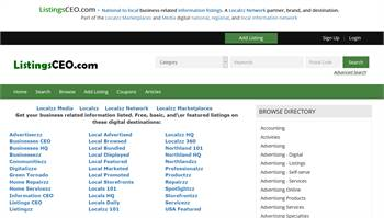 ListingsCEO.com  - National to local business and information listings.