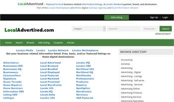 LocalAdvertised.com - National to local business related information listings.